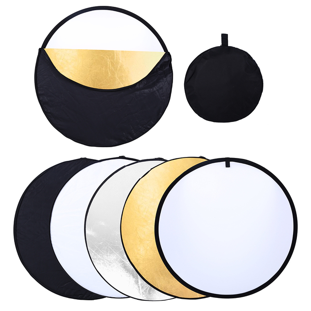 80cm PRO 5-in-1 Portable Foldable Studio Photo Collapsible Multi-Disc Light Photographic Lighting Reflector