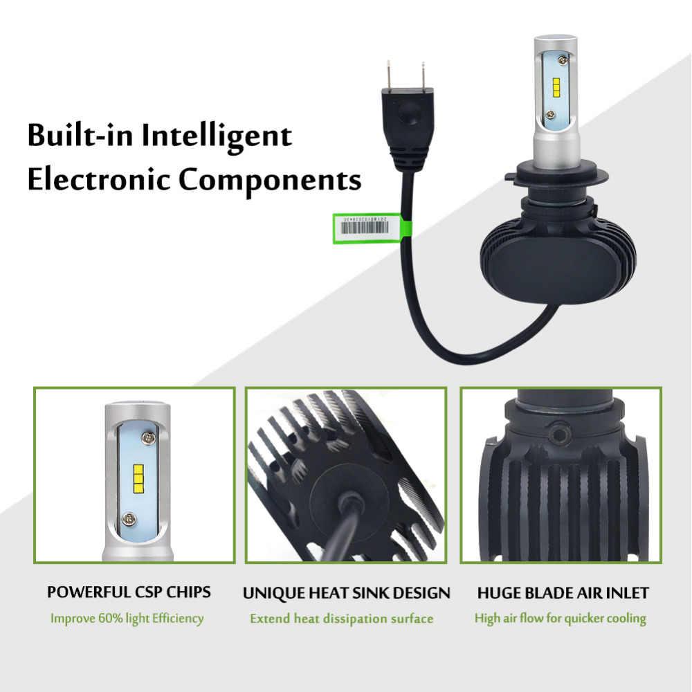 Auto H3 Led H7 H1 H11 H8 H9 9005 HB3 9006 HB4 Led H4 Car Light Bulb 50W 8000LM Automobile Headlight Fan-less Fog Lamp 6000k 12V