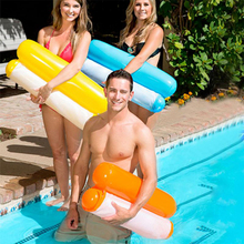 Swimming pool inflatable floating swimming accessories water leisure floating lounger water air cushion outdoor cordura fabric floating pool floating wand water bean bag factory landed relax lounger after floating