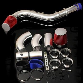 1 Set di 3 Pollici Universale Auto Cinque Parte Da Corsa Diretta Filtro Aria Kit Aspirazione Iniezione Prestazioni del Sistema Fredda di Induzione Dell'aria filtro