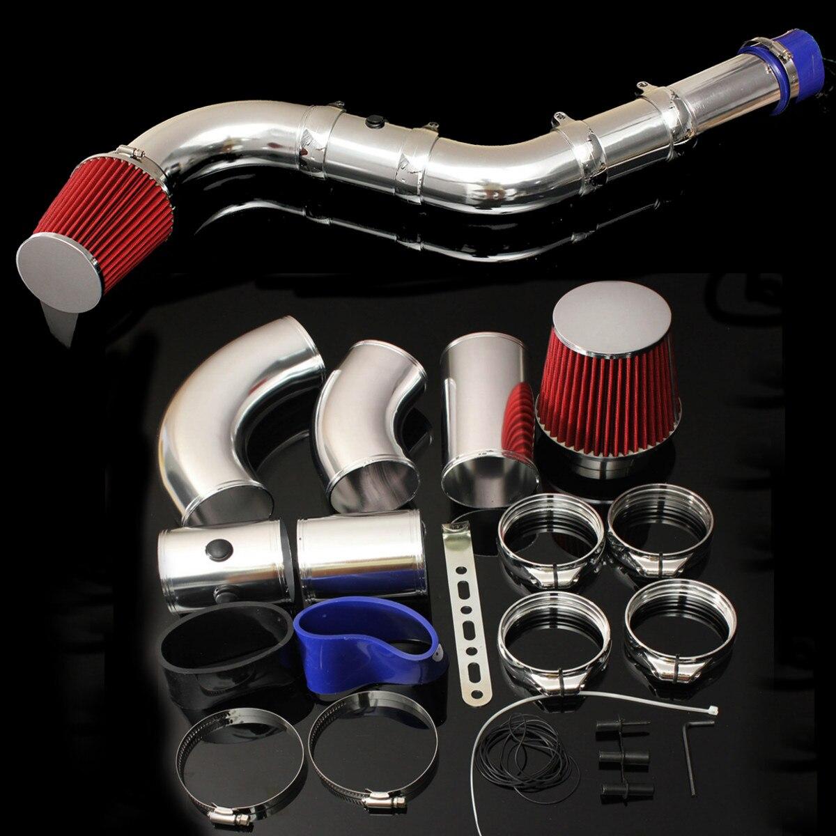 1 ensemble 3 pouces universel voiture cinq pièces course filtre à Air Direct Injection Kit d'admission système Performance froid Induction filtre à Air