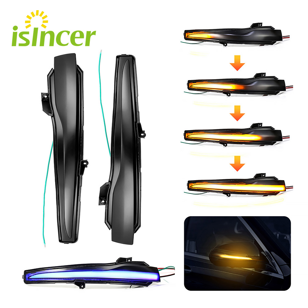 ISincer 2 pièces LED Dynamique Clignotant Pour Mercedes Benz C E S Classe GLC Voiture Rétroviseur Indicateur Pour Benz W205 W213