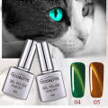 3D Cat Eyes Gel Lucky 8ml Magnet Stick SoakOff Gel Lacquer UV Gel Polish Long-Lasting Gel Nail Art Need to use the magnet