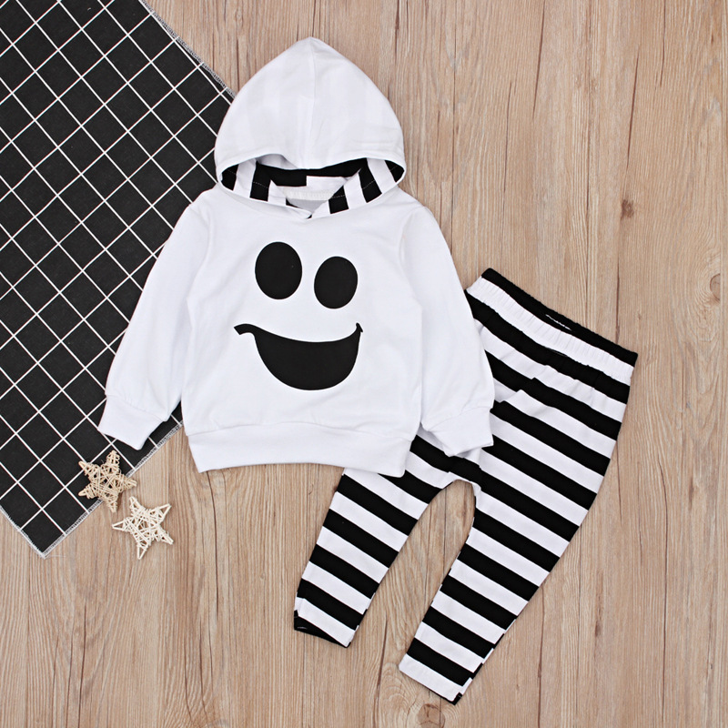 Halloween Baby Girls Boys Ghost Romper Children baby Cotton kids Children Top Stripe Pants in Clothing Sets from Mother Kids