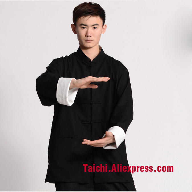 Handmade Linen Tai Chi Uniform Wushu, Kung Fu,martial Art Suit,top+pants,Wing Chun Unform,Chinese Style Clothes painted handmade linen tai chi uniform taijiquan female clothing summer short sleeved wushu kung fu jacket pants