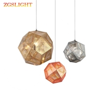 Nordic Geometry Box Bric Tom Dixon Pendant Lights Balcony Dining Room Living Room Modern Simplicity Stair Hanger Lamp Fixture