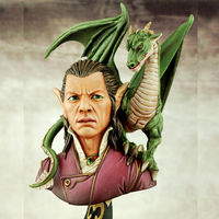 1:9 Resin Figure Bust Model Movie Character The Dragon Lord X68