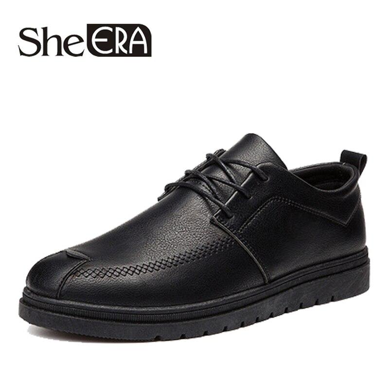 Brun Appartements En Cuir New Doux 2019 Robe red De Pu D'affaires Brand Hommes Confort Casual Black gray Chaussures Noir Mode Baisse 41x7xqwz
