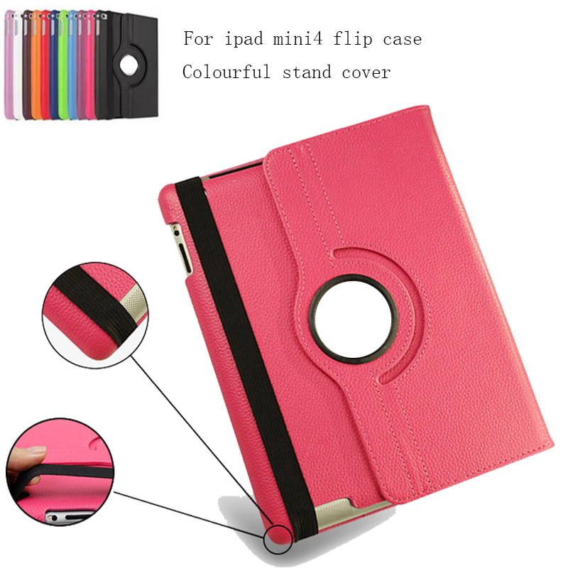 For Case Apple iPad 2 iPad 3 iPad 4 PU Leather Smart Stand Flip Case Cover 360 Rotating Screen flip left and right stand pu leather case cover for blu vivo air