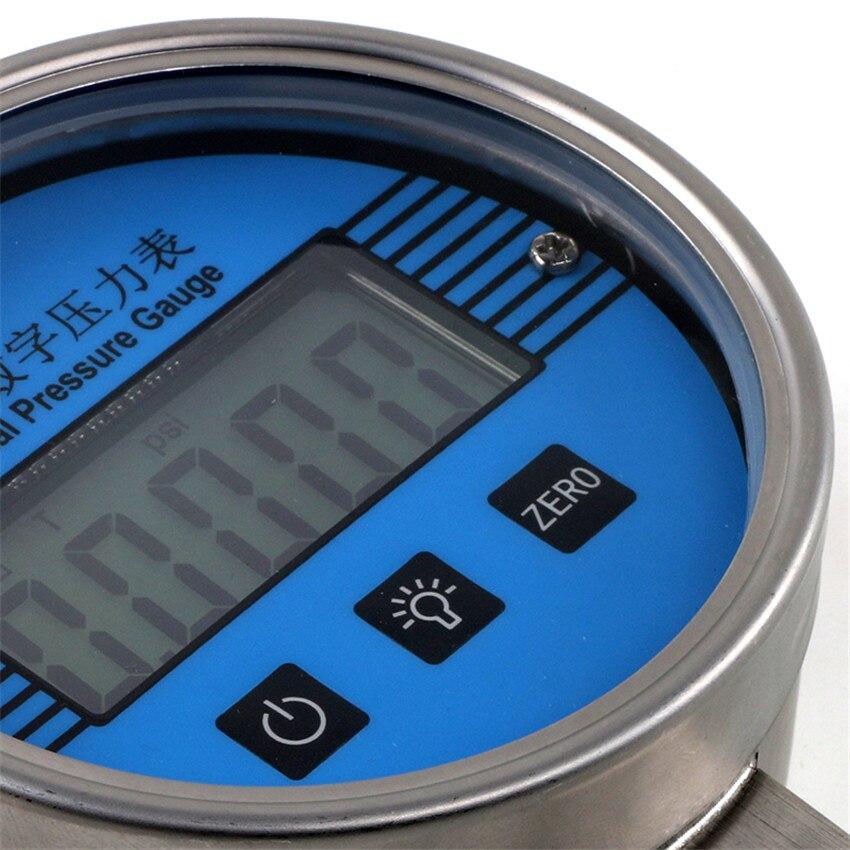 YB 150A de alta pressão eletrônica do sensor 0 100mpa de digitas da precisão do calibre de pressão de aço inoxidável do lcd de 5 dígitos da tabela de vácuo 304 - 3