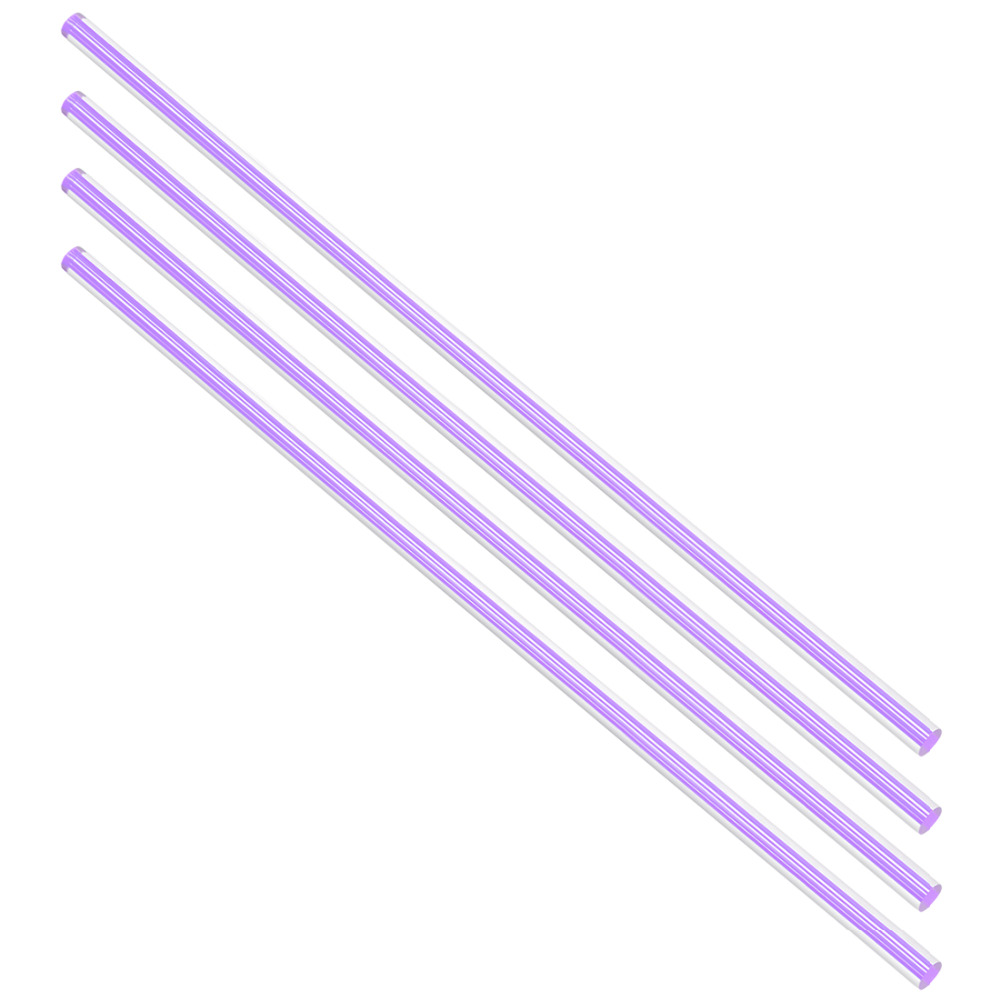 Uxcell 4pcs 6mm Diameter 250mm Length Pink/Dark Blue/Light Purple Straight Line Solid Acrylic Round Rod PMMA Bar Customizable
