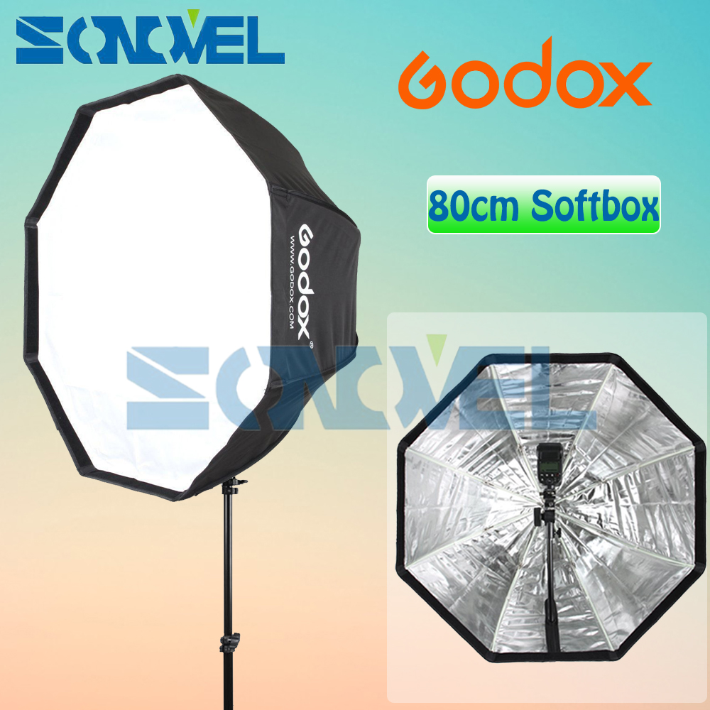 Godox Portable Octagon Softbox 80cm 31.5inch Umbrella Brolly Reflector Flash light Softbox for Studio Photo Flash Speedlight