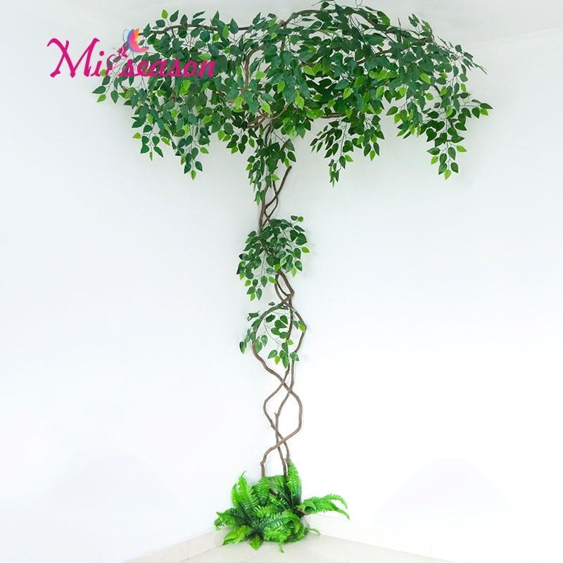 New FAI DA TE verde paesaggio artificiale foglie di decorazione di interni per il matrimonio a casa della parete del salone falso fiore pianta decorativa - 3