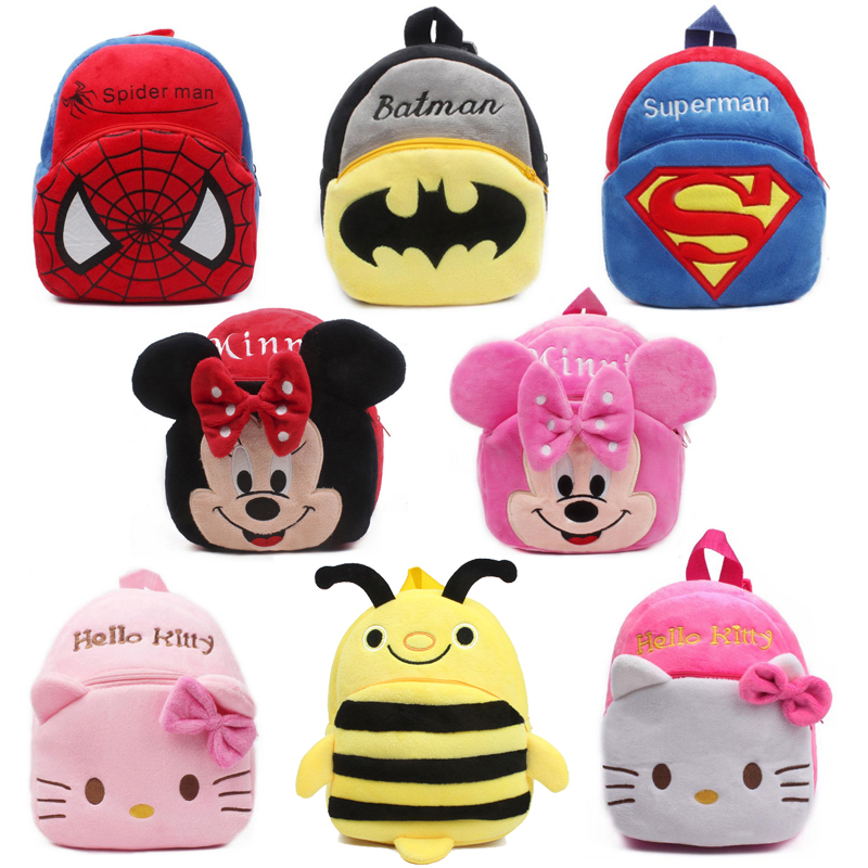 Cute cartoon baby plush backpack mini school bag Childrens gifts kindergarten boy girl k ...