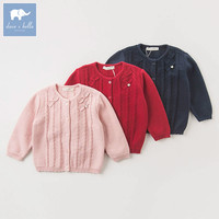 DB5558 Dave Bella Autumn Infant Baby Girls Fashion Cardigan Kids Toddler Coat Lolvely Children Knitted Sweater