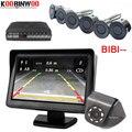 Koorinwoo Parktonic 8 парковочный датчик двухъядерный двойной ЖК-дисплей Автомобильный Обратный радар-будильник комплект с камерой заднего вида