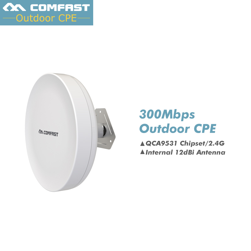 2PCS Cheap~ Comfast 3KM CPE Waterproof 200mW 300Mbps Wireless Bridge CPE Wireless point to point Outdoor Access Point CPE Router arderia cpe 25 5a