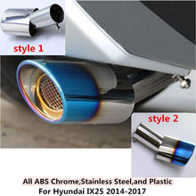 Hot sale For Hyundai IX35 2014 2015 2016 2017 car cover muffler exterior end pipe dedicate stainless steel exhaust tip tail 1pcs