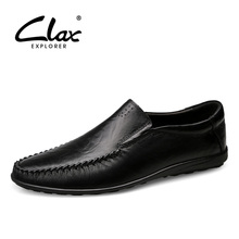 CLAX Men's Shoes Slip on 2019 Spring Summer Male Leather Shoe Genuine Leather Casual Loafers Man Boat Footwear Moccasins Soft все цены
