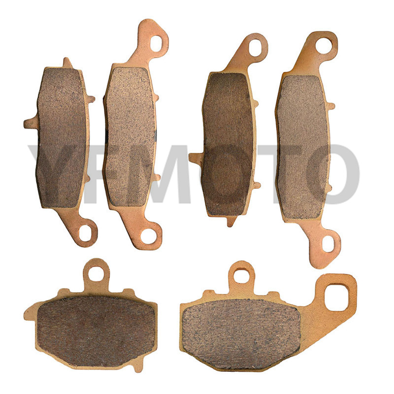 Motorcycle Front & Rear Brake Pads Kit For Kawasaki Z750S Z 750S Z750 S Z 750 S 2005-2006 Brake Disks starpad motorcycle kawasaki z750 z1000 07 after the brake pads brake pads gold wholesale versatility