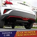 ABS Chrom Hinten Stoßstange Schutzfolie Deckel Molding Abdeckung Trim Für Toyota C-HR CHR 2017 2018