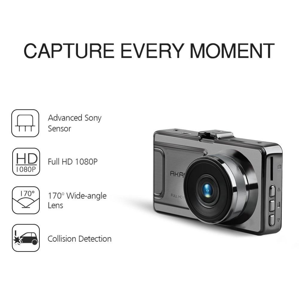 """AKASO D2000 Dash Camera FHD 1080P Dash Cam 3/"""" Car Sony Sensor 170° G-Sensor"""