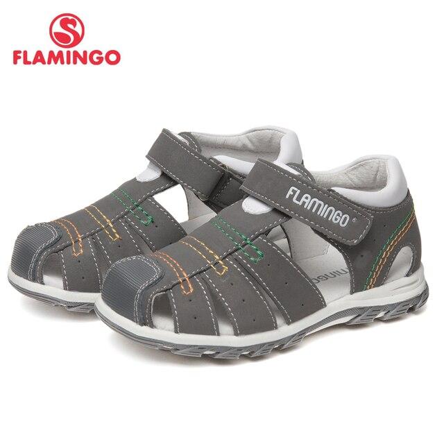Сандалии Фламинго для мальчиков 61-XS162, кожаная стелька, застежка  - липучка, защита носочной части, для прогулок и отдыха, размер 24-30.