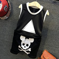 2016 Children Boys Clothing Sets Kids Summer tank T Shirts+Shorts Pants 2 Pcs Sets Baby boys Clothes Suits skull print Infantis