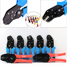 ФОТО portable self-adjusting crimping plier wire cable end sleeves ferrules cutters, high-carbon steel  pin crimping tool