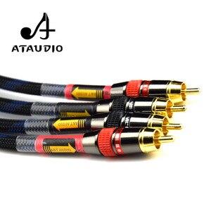 Image 5 - ATAUDIO Hifi Cinch kabel Hochwertige 4N OFC HIFI RCA STECKER auf Stecker Audio Kabel