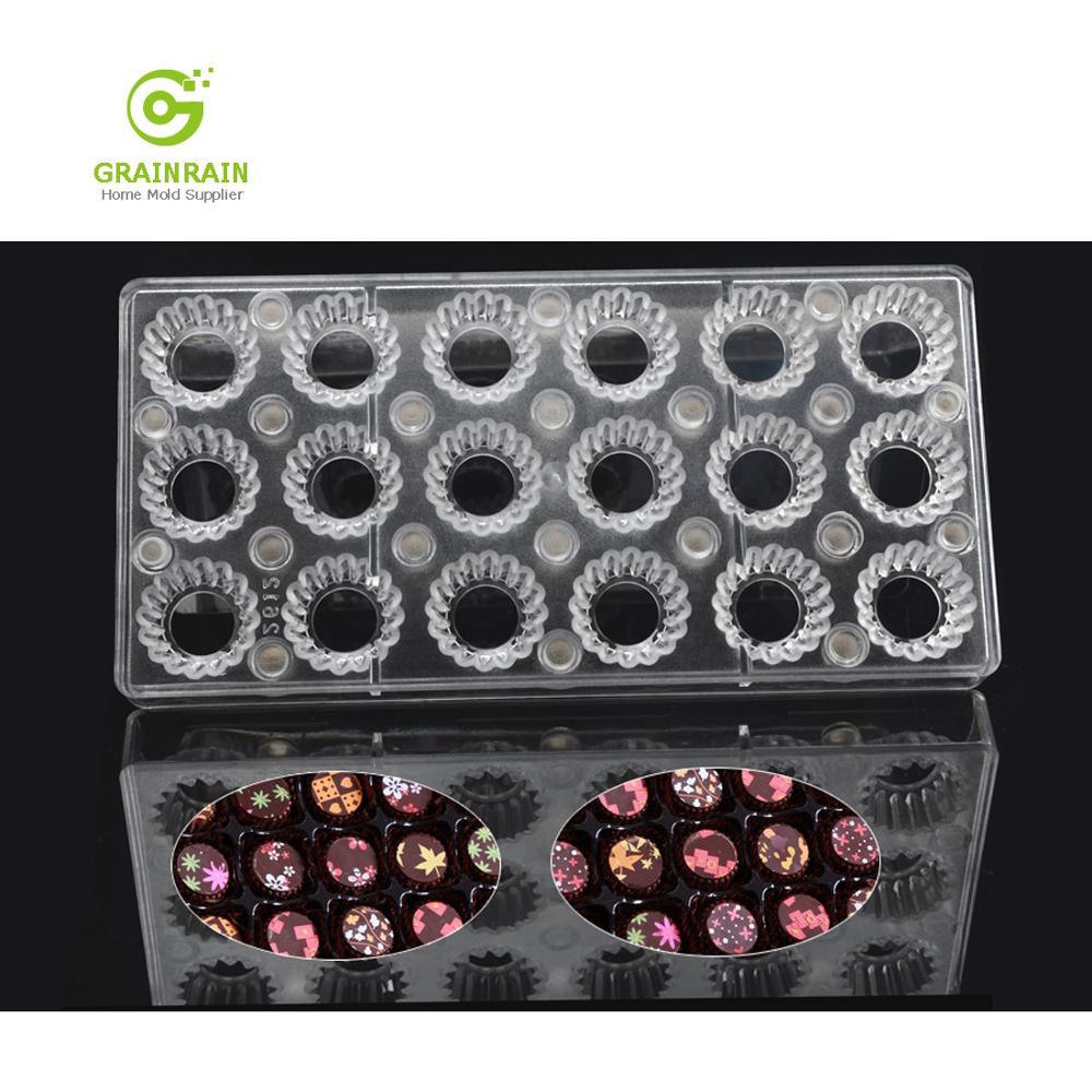 Grainrain Gear DIY Chocolate Transfer Sheet Custom Molds Magnetic Polycarbonate Mould