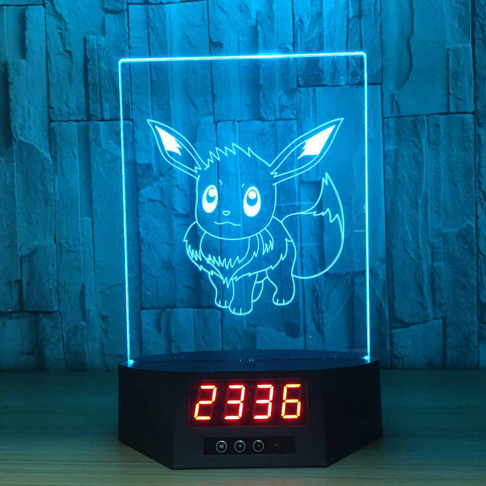 Sylveon Cartoon characters 3D visual effects desk lamp calendar nightlight touch and remote control rechargeable lampIY803991-39