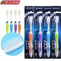 4 Unids/pack adultos Cepillo de Dientes cepillo de Dientes de Viaje DR. GOOD916 ecológico cepillo de dientes de Cerdas Suaves para blanquear los dientes para el hogar