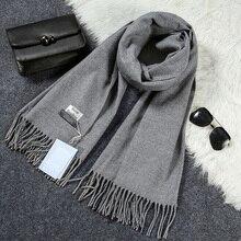 Новый роскошный шарф Зимний Для женщин шарф Для мужчин Шерсть Кашемир сплошной шарф Высокое качество пашмины Ленточки обертывания Шарфы для женщин 180*70 см WJ8049