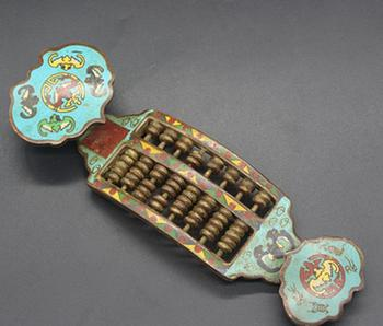 Antique QingDynasty  Cloisonne Abacus sculpture,hand-carving crafts,Home Decoration,handmade crafts/Collection
