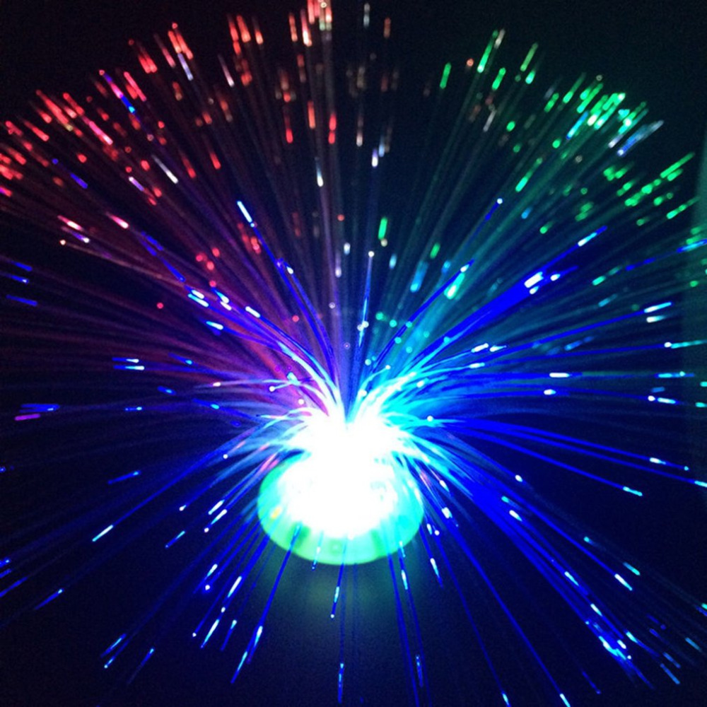 Romantic Color Changing LED Fiber Optic Nightlight Battery Powered Christmas Lamp For Party Home Decoration
