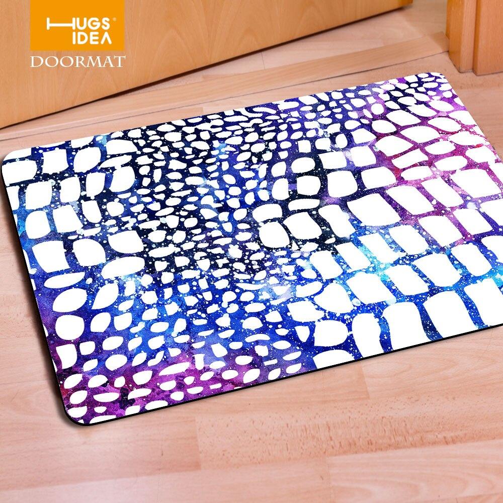 HUGSIDEA Galaxy Space Welcome Leopard Fur Home Decoration Carpets ...