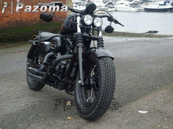 PAZOMA Free Shipping Black Supermoto Motorcycle Twin Metal Headlight Custom Dominator Streetfighter Project CB On Aliexpress