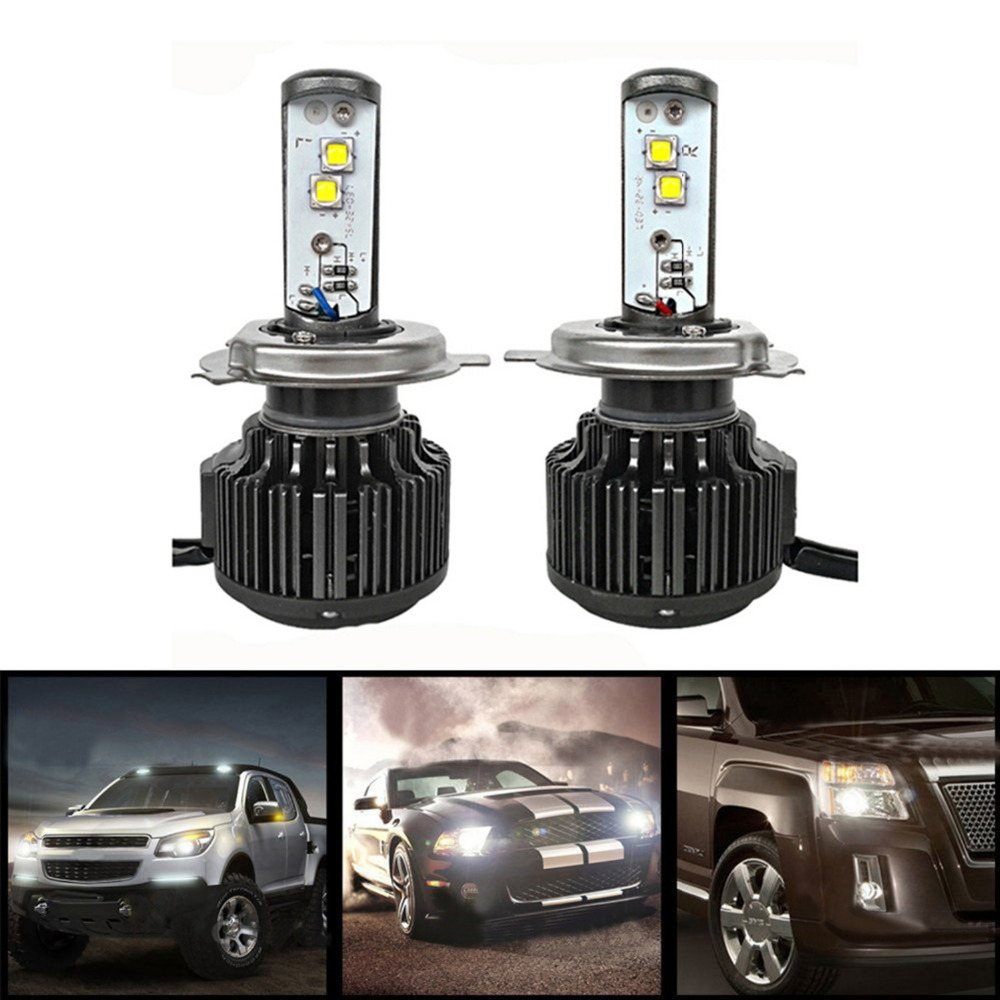 Newest H4/9003/HB2 H/L Cree Chips LED Headlight Conversion Kit Lamp Bulbs 80W/7200LM Car Headlight High Low Beam Head Bulb