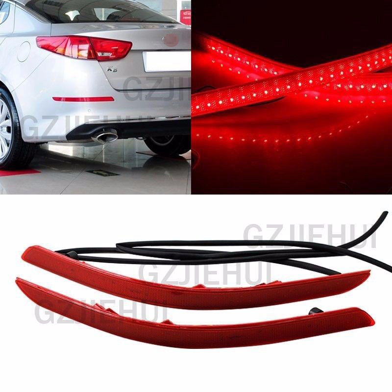 CYAN SOIL BAY LED Rear Bumper Reflector Brake Turn Signal Light For KIA Optima K5 2014 2015 cyan soil bay led rear bumper reflector brake fog lights for subaru exiga levorg wrx sti legacy xv crosstrek impreza 11 12 13