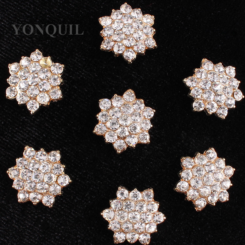 17 MM 15PCS/LOT Retail Crystal Rhinestone Cross Badge buttons Patch Clothing Bags Shoes Hats decoration DIY accessories SYBB86