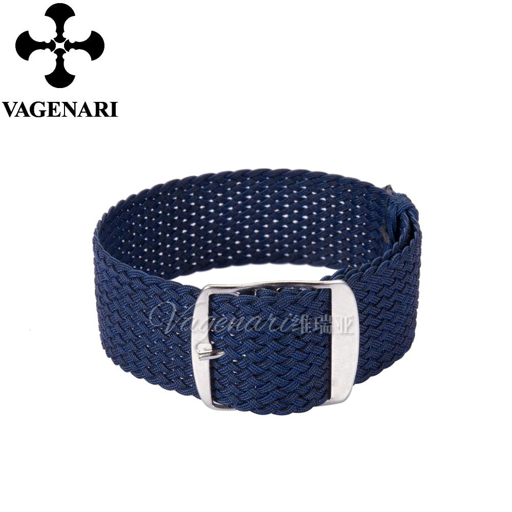 Waterproof Dark Blue Perlon Strap 20mm Braided Watch Strap napapijri guji check dark blue