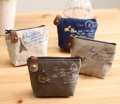 4Models Retro Paris 10*8CM Canvas Lady Girlu0027s HAND Coin Purse u0026 Wallet  Pouch Case BAG Women Bags Pouch Makeup