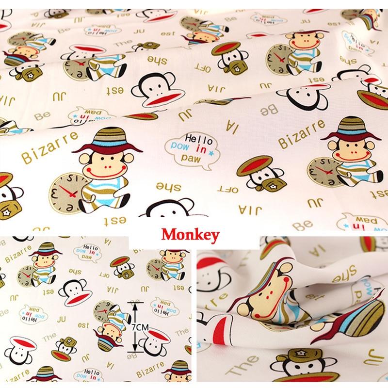 Popular monkey print fabric buy cheap monkey print fabric for Baby monkey fabric prints