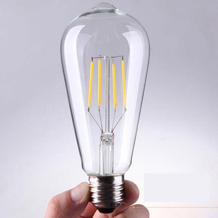 220V 240V 2300K 4W LED Filament Bulb Retro Vintage Edison Led bulbs clear Glass gold tint Light Bulb LED hanging lamp bulbs