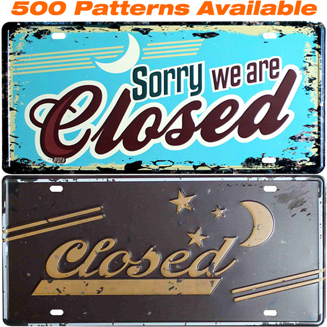 Closed ] Car American License Plate USA Vintage Home Decor Tin Sign ...