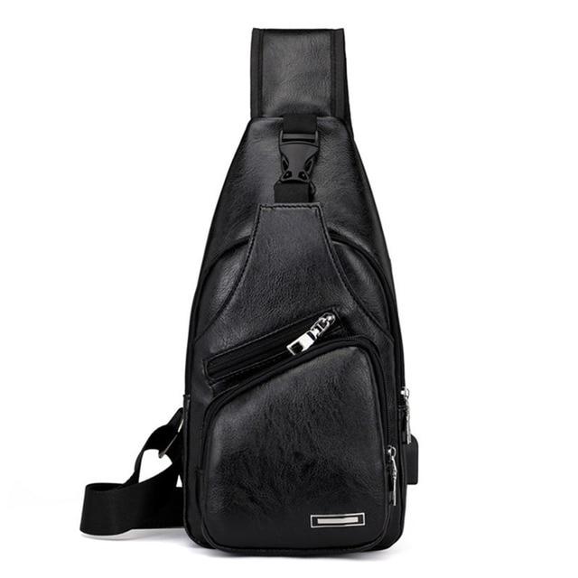 Famous men's Chest Bag men's Travel Messenger Bag Casual USB Charging Messenger bag Fashion Travel multi-function Shoulder Bag