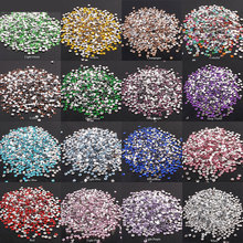 2-6mm 1000Pcs Rhinestones Crystal Clear AB Non Hotfix Flatback Nail Rhinestoens for Clothes Nails 3D Art Decoration E