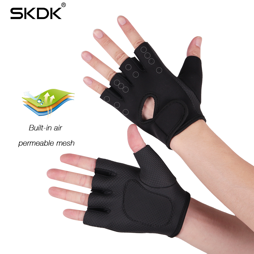 Grip Pad Gym Gel padded Gloves strap wrist Weight Lifting Body Building Workout