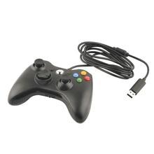 Геймпад usb проводной геймпад контроллер для microsoft для xbox 360 slim 360 для пк windows7 черный цвет джойстик игровой контроллер